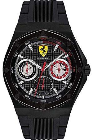 Scuderia Ferrari Herr multiurtavla kvartsklocka med silikonrem 0830538