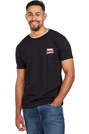 Marvel Herr Stack Logo-Mens Sml T-tröja, ( blk), (tillverkarstorlek: Liten)
