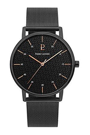 Pierre Lannier Herr analog kvartsklocka med rostfritt stålpläterat armband – 203F438