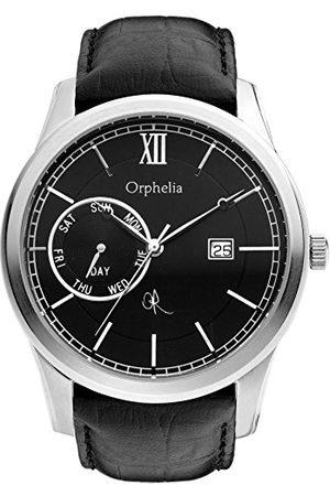 ORPHELIA Herrklocka rik historia analog kvarts läder rem /