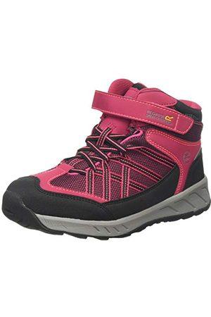 Regatta Unisex baby Samaris V Junior Waterproof Hiking Boot Trekking- och vandringsstövel, mörk cerise neonrosa Zv2-32 EU