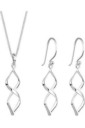 Elli Dam 925 sterling hänge halsband med längd 45 cm med hängande örhängen