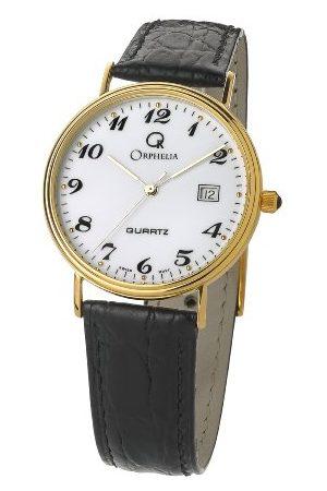 ORPHELIA Herr analog kvartsklocka med läderrem MON-7081/2