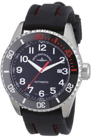 Zeno Mäns automatiska klocka dykare 6492-a1-17 med läderrem