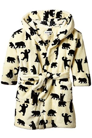 Hatley Pojke barn fleece svarta björnar på naturlig rock