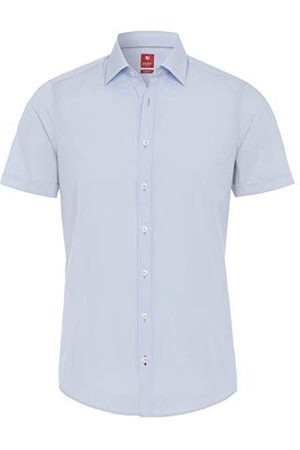 Pure Herr 3330-717 City red halvbarm klassisk skjorta, , XS