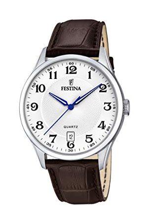 Festina Herr analog kvartsklocka med läderarmband F20426/1