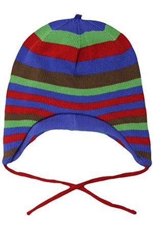 Toby Tiger Pojkar blå och stickad randig hatt
