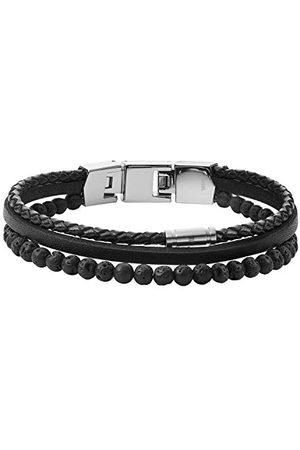 Fossil Mäns armband Cool Tones flersträngad Lava Bead svart, JF03620040