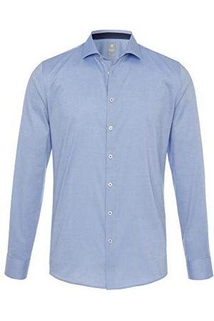 Pure Herr 3388-788 City silver lång ärm klassisk skjorta, uni ljusblå, S