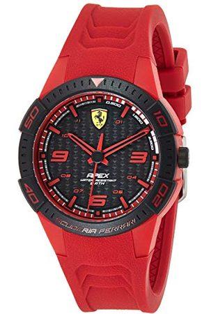 Scuderia Ferrari Analog kvartsklocka för män med silikonrem 0840033