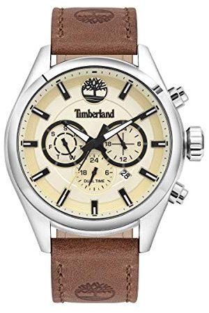 Timberland Mäns analog kvarts klocka med läder kalvläder armband TBL16062JYS.14