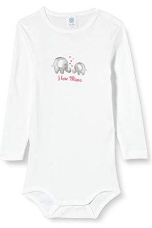 Sanetta Baby-pojkar långärmad kropp kropp långärmad med bedårande elefanttryck och texten I Love Mama