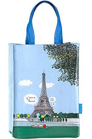 Barbapapa Paris kanvas och strandväska, 37 cm