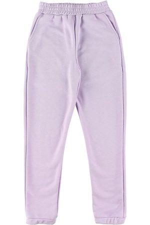 Grunt Flicka Joggingbyxor - Sweatpants - Lilian - Light Purple