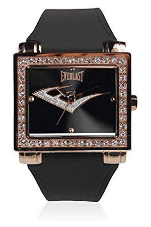 Everlast Unisex vuxen analog kvartsklocka med läderrem EVER33-206-004
