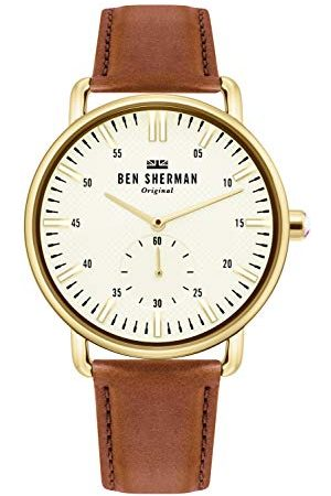 Ben Sherman Herr analog klassisk kvartsklocka med läderrem WB033TG