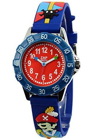 Baby Watch – 606016 – Corsaire – visar pojkar – kvarts pedagogisk – urtavla rött armband plast blå