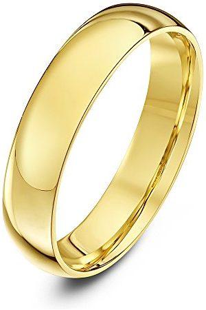 THEIA Unisex polerat 14 karat gult tungvikts domstol form bröllopsband/ring e gult , T, colore: , cod. TH13889