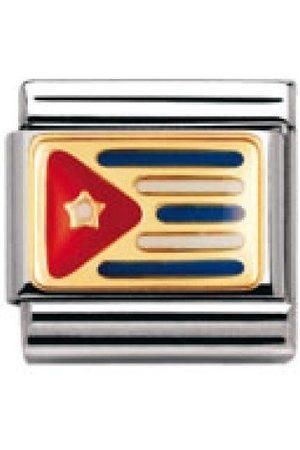 Nomination Nominering komposerbar klassisk amerika Kuba rostfritt stål, emalj och 18K guld