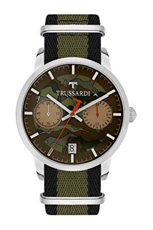 Trussardi Herr Chronograph kvartsur med läderarmband R2471613003