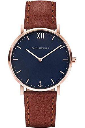 Paul Hewitt Unisex-armbandsur analog kvarts läder PH-SA-R-Sm-B-1M