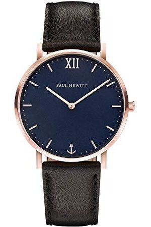 Paul Hewitt Unisex-armbandsur analog kvarts läder PH-SA-R-Sm-B-2M