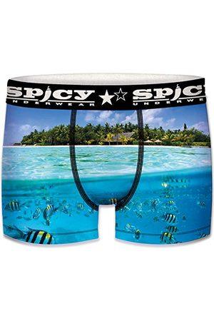 Spicy Herr Unitary Boxer Brief för män undervattensmodell mikrofiber 92% polyester, 8% elastan