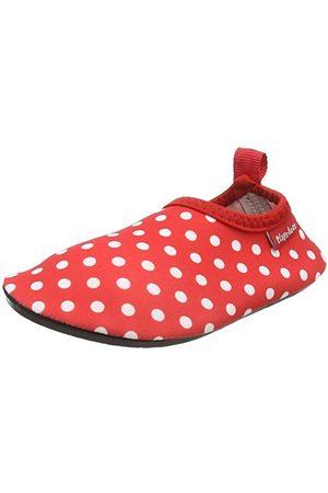 Playshoes Unisex barn badtofflor aqua-skor punkter, röd22/23 EU
