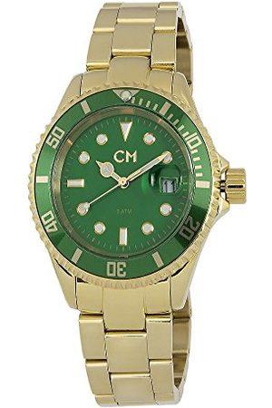 Carlo Monti Varese kvartsklocka för män med urtavla analog display och rostfritt stål pläterat armband CM507-299