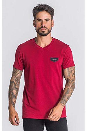 Gianni Kavanagh Herr burgundy kärna v-ringad t-shirt undertröja