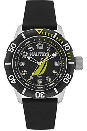 Nautica Herr analog kvartsklocka med gummiband NAI08513G
