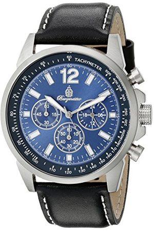 Burgmeister BM608-132 Washington, Gents klocka, analog display, kronograf med medborgarrörelse – vattenbeständig, snygg läderrem, klassisk herrklocka