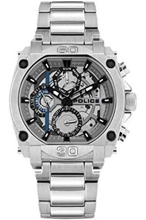 Police Unisex vuxen analog kvarts klocka med rostfritt stål armband PL15472JS.13M