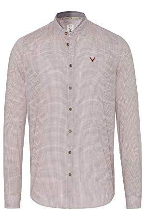 Pure Herr 5014-21690 Tracht Slim fit långärmad skjorta, tryck ljusblå, S