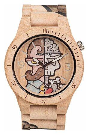 WeWood Män analog kvarts smart klocka armbandsur med träarmband WW53002