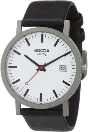 Boccia Herrklocka analog kvarts med läderarmband 3622–01