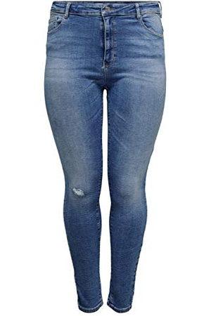 Carmakoma Kvinna Skinny - Dam Carlaola Life HW SK JNS BB AZG809 NOOS jeans, ljusblå denim, 48