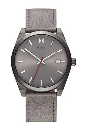 MVMT Herr analog kvartsklocka med läderrem i vadskinn 28000042-D
