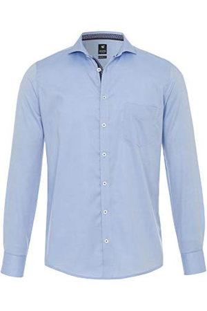 Pure Herr 4020-414 City Black lång ärm klassisk skjorta, Uni ljusblå, L