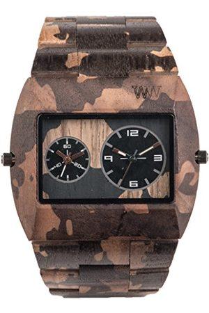WeWood Herr analog kvarts smartklocka armbandsur med träarmband WW40004