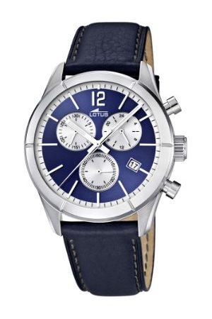 Lotus Herr kvartsklocka med urtavla kronograf display och läderrem 15850/7