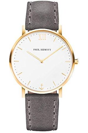 Paul Hewitt Unisex-armbandsur analog kvarts läder PH-SA-G-St-W-13M