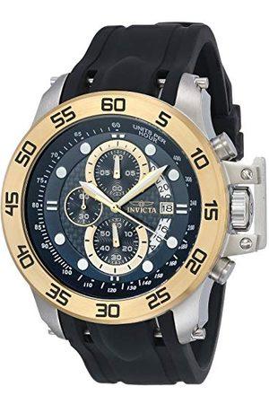 Invicta Herr 19251 I-Force rostfritt stål klocka med svart syntetiskt band Armband