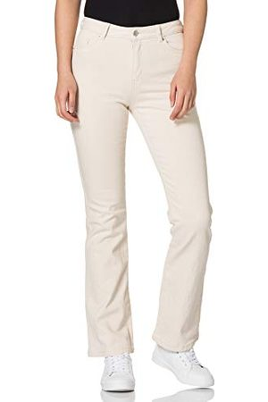 VERO MODA Damer Vmsaga Hr S Flared Ecru Ga Color jeans
