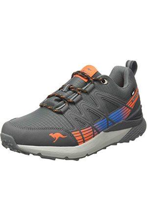 KangaROOS Unisex vuxna K-trun Low Rtx Sneaker, Stålgrå neon orange45 EU