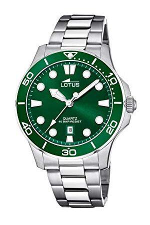 Lotus Män analog kvarts klocka med rostfritt stål armband 18759/2