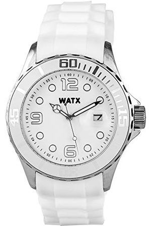 Watx Analog kvartsklocka med gummiband RWA9021