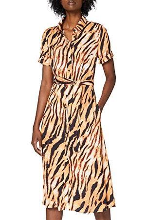 #ONE MORE STORY Dam maxiklänning med tigertrycksklänning
