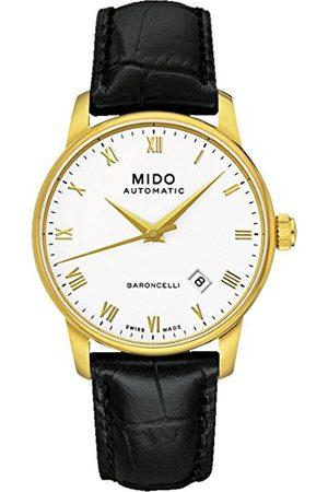 MIDO Herrarmbandsur BARONCELLI II GENT analog automatisk läder M8600.3.26.4